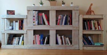 fabriquer une bibliothèque en palette